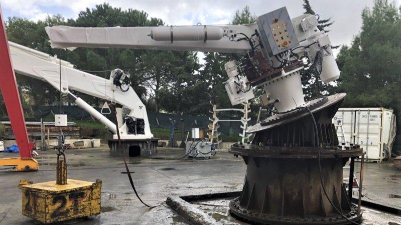 Испытания спускоподъемного устройства для дежурной шлюпки транспорта вооружений проекта 20360М