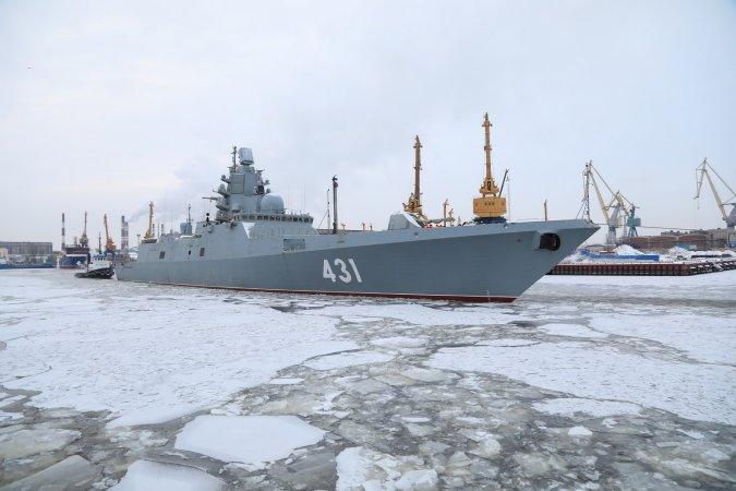 """Фрегат """"Адмирал Касатонов"""" отправляется на испытания"""