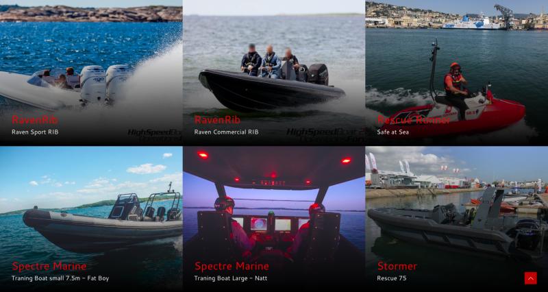 Лодки с подвесными двигателями на выставке HSBO