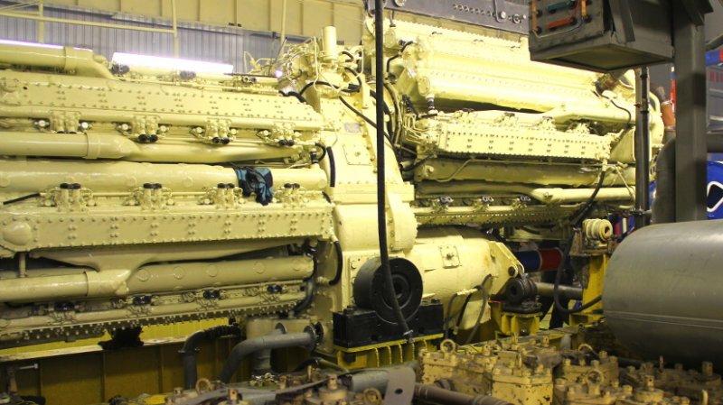 Дизельный двигатель М507 на испытательном стенде