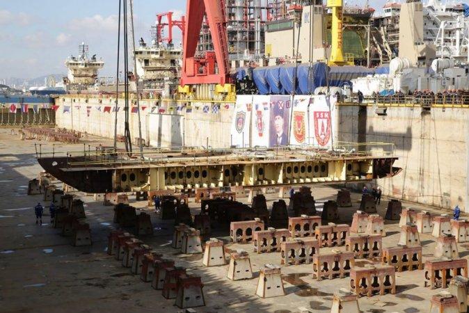 """Закладка универсального десантного корабля """"Анадолу"""" для ВМС Турции"""