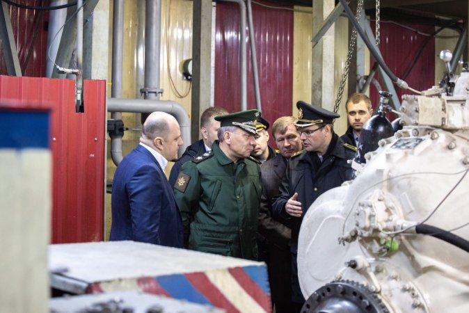 Визит замминистра обороны Юрия Борисова на Кингисеппский машиностроительный завод