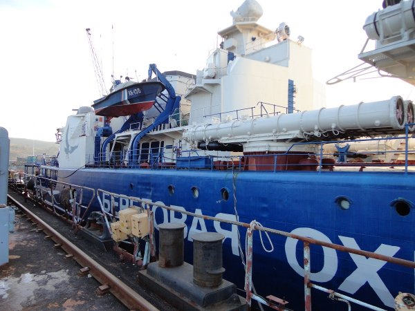 "Командирский разъездной катер ""Стриж"" на борту СКР проекта 1135"