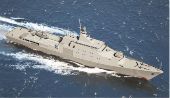 """Океанский патрульный корабль на базе фрегата """"Гепард 5.1"""""""