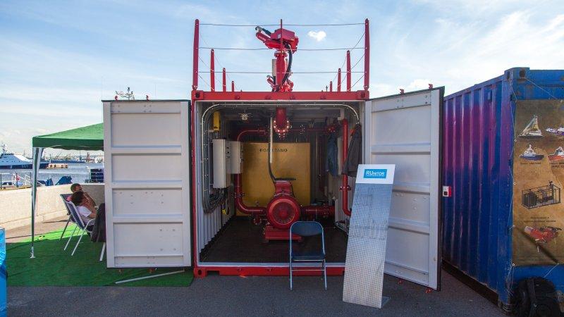 Система внешнего пожаротушения в контейнерном исполнении