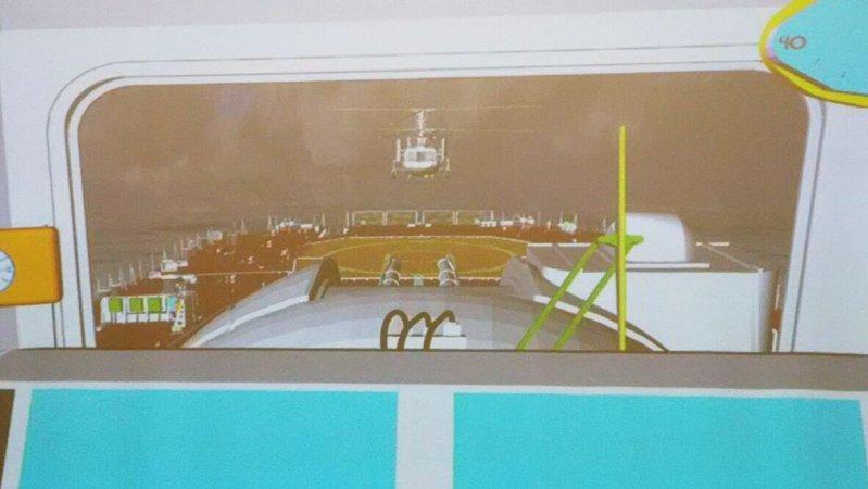 Визуализация посадки вертолета на корабль посредством программно-аппаратного комплекса отладки конструкторских решений СПКБ